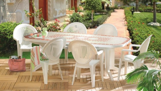 Entretenir le mobilier d 39 ext rieur en plastique for Table de salon de jardin plastique