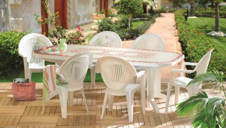 Comment nettoyer table de jardin blanc for Comment repeindre un salon de jardin en plastique